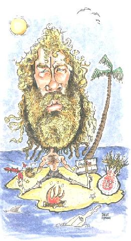 Tom Hanks Castaway Caricature
