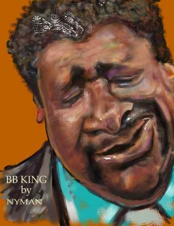 BB King Caricature