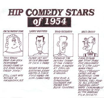 Hip Comedy Stars of 1954