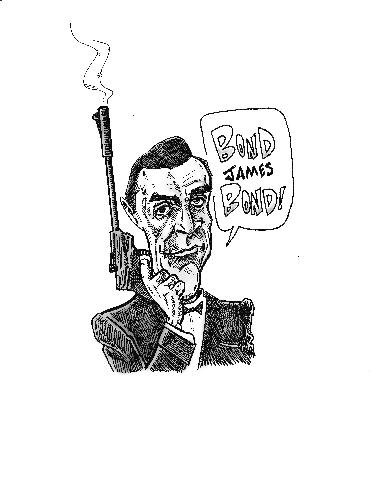 Sean Connery as James Bond Caricature