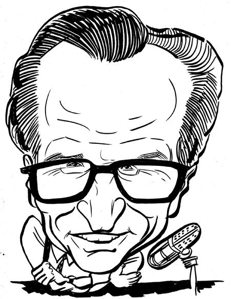 Larry King B&W 2