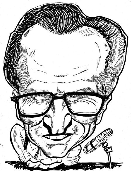 Larry King B&W 1