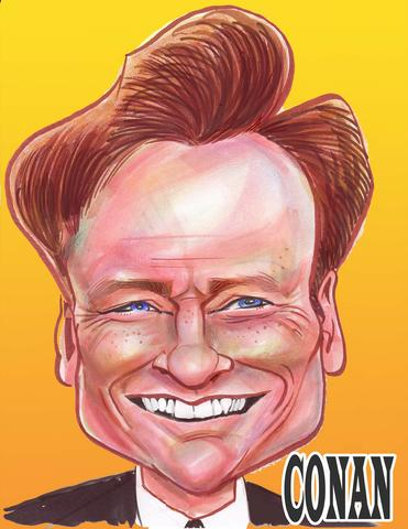 Conan O'Brien Caricature
