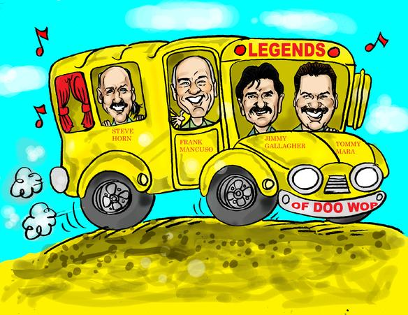 Created to represent an Oldies Band on tour in the Legends of Doo Wop Bus
