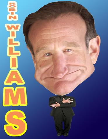 Robin Williams Photo Caricature