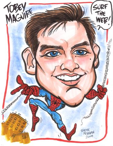 TOBEY MAGUIRE CARICATURE